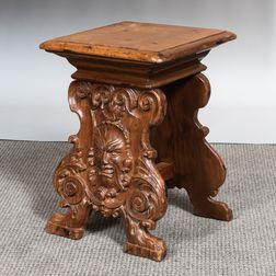 Baroque-style Gargoyle-carved Stool