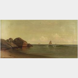 Francis A. Silva (American, 1835-1886)  On the Coast