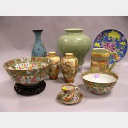 Ten Japanese and Chinese Porcelain Items