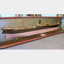 Half-Hull Boardroom Model of the 360-foot British Cargo Ship Queen Cristina