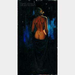 Joyce Ballantyne (American, 1918-2006)      Female Nude in Blue