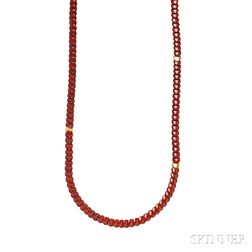 18kt Gold and Agate Necklace, Tiffany & Co.