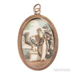 Antique Mourning Pendant