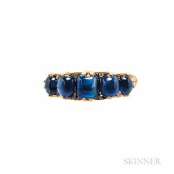 18kt Gold and Sapphire Ring