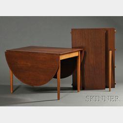 George Tanier Teak Drop-leaf Dining Table