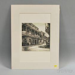 Philip Kappel (American, 1901-1981)      Lace in Cast Iron, New Orleans, La.