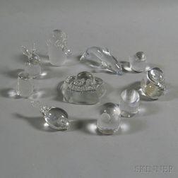 Ten Scandinavian Design Crystal Animals