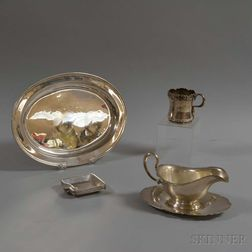 Nine Pieces of Sterling Silver Tableware