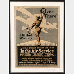 """Over There!"" United States Army Aviation Section Recruitment Poster"