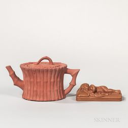 Two Wedgwood Rosso Antico Items
