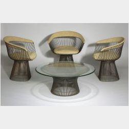 Four Pieces of Warren Platner Furniture