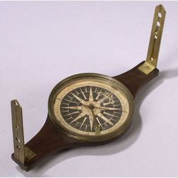 Mahogany Surveyor's Compass by Edmund Blunt