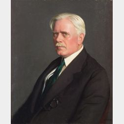William McGregor Paxton (American, 1869-1941)    Portrait of George Young