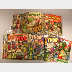 Twenty-eight Silver Age Journey Into Mystery Starring The Mighty Thor  , and   Forty-seven Silver Age The Mighty Thor