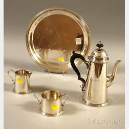 Four-piece Assembled Sterling Silver Demitasse Coffee Service