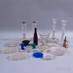 Twenty-one Sandwich or Related Pressed Glass Items