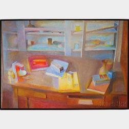 Joseph Ablow (American, 1928-2012)      Studio Table--Amherst Series