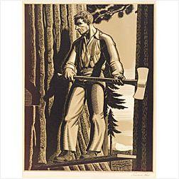 Rockwell Kent (American, 1882-1971)  The Faller