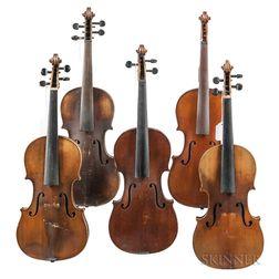 Five Violins.     Estimate $200-300