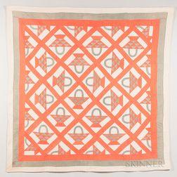 Hand-stitched Basket Quilt