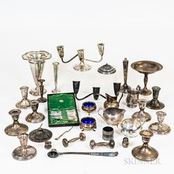 Group of Sterling Silver and Silver-plated Weighted Tableware