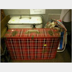 Schlitz Cold Tap, a Plaid Metal Picnic Case and Two Cooler Bags with 1980s Bear Bryant and Unopened Super Bowl Coca-Cola Collector Bott