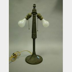 Bradley and Hubbard Arts & Crafts Cast Brass Table Lamp Base.