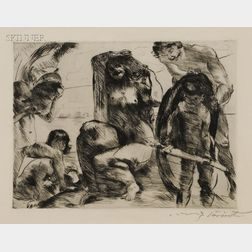 Lovis Corinth (German, 1858-1925)      Der Spiegel der Venus