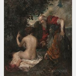 Hugo Ballin (American, 1879-1956)      Susanna and the Elders