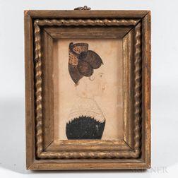 American School, Mid-19th Century      Miniature Portrait of Elizabeth Richards