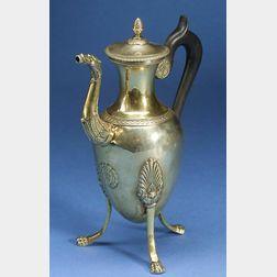 French .950 Silver-gilt Coffeepot