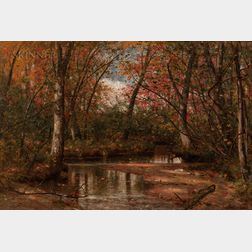 Worthington Whittredge (American, 1820-1910)      The Trout Brook