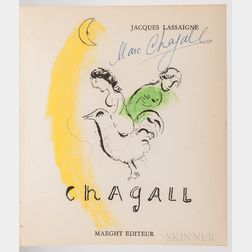Chagall, Marc (1887-1985) Jacques Lassaigne's Chagall  , Signed by Marc Chagall.
