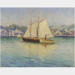 Lilla Cabot Perry (American, 1848-1933)  Harbor Activity