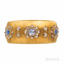 Mario Buccellati 18kt Gold, Sapphire, and Diamond Bracelet