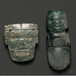 Two Pre-Columbian Jade Pendants
