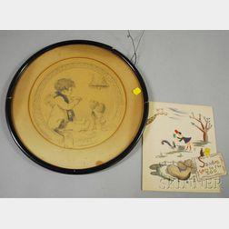 Two Illustrations:      Albert Dodd Blashfield (American, 1860-1920), Wedded Bliss
