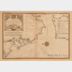 Map of the Bay of Cadiz and the Straits of Gibraltar.