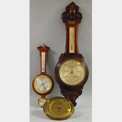 Three Aneroid Barometers