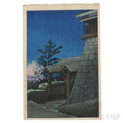 Kawase Hasui (1883-1957), Tonashi Gate at Matsuyama Castle