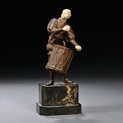 Bronze Figure of a Drummer