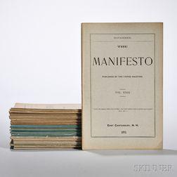 Forty Shaker Manifestos