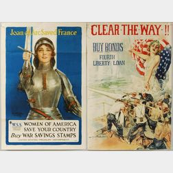 Eight WWI and War Bond Posters