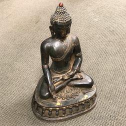 Large Bronze Statue of a Seated Buddha