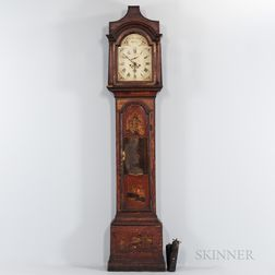 Japanned Tall Case Clock