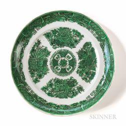 Green Fitzhugh Export Porcelain Plate