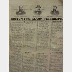 """Boston Fire Alarm Telegraph,"""