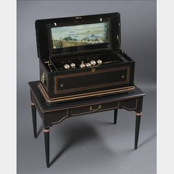 Rare Bells and Automaton Cylinder Musical Box by Karrer