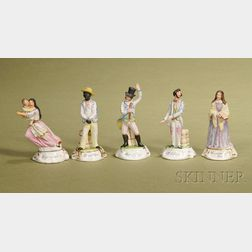 Five Bisque Figures from Uncle Tom's Cabin