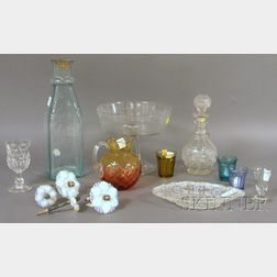 Fifteen Pieces of Assorted Glass